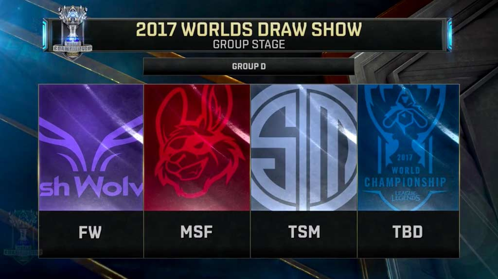 Cabezas de grupo D: Flash Wolves, Misfits y Team Solomid