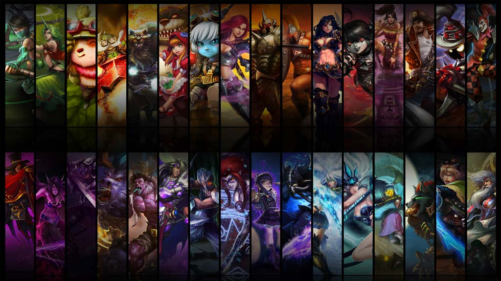 Variedad de campeones a escoger en League of Legends